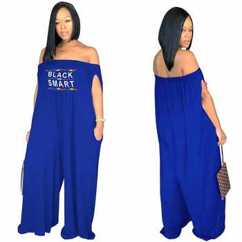 Africa Cloting Women Casual Loose Off the shoulder Jumpsuit Wide Leg Pants Super Plus Size S-XXXL - DISCOUNT ITEM  27% OFF All Category