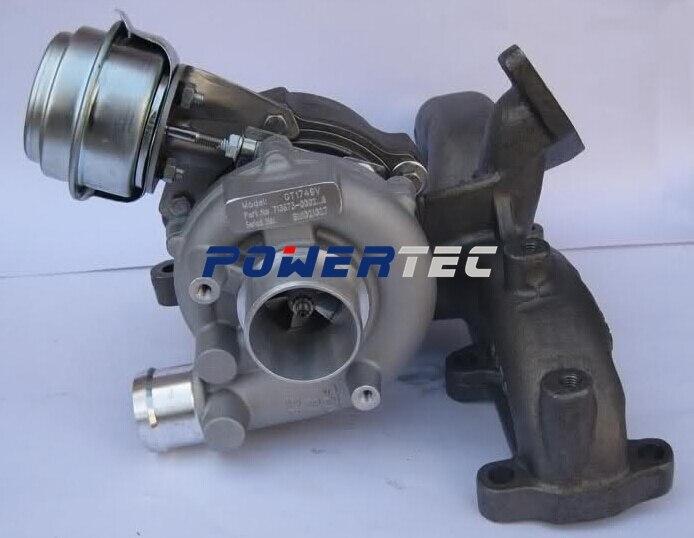 Турбонагнетатель турбонагнетатель gt1749v 713672 454232-1/3/4/5 турбо компрессора земля 03G253016N турбо зарядное устройство для Фольксваген Бора 1.9 ТДИ
