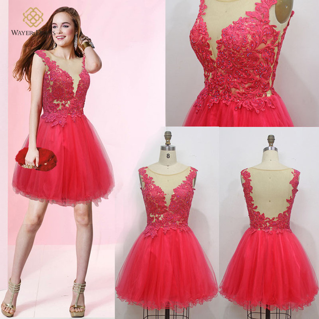Aliexpress.com : Buy 2016 Hot Sale Real Photos Short Red Prom ...