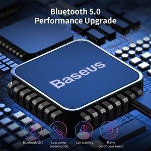 Image 2 - Baseus Bluetooth 5.0 słuchawki bezprzewodowe słuchawki Bluetooth dla iPhone Samsung Xiaomi zestaw głośnomówiący słuchawki sportowe słuchawki douszne