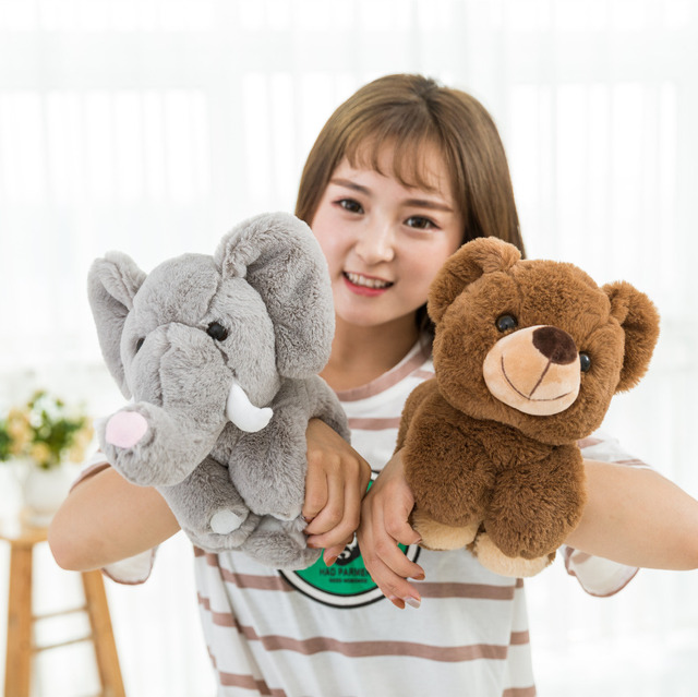 The hottest transformation Magic Wrist Bear Panda Elephant Plush Toys Quality cotton stuffed animal toys Claw