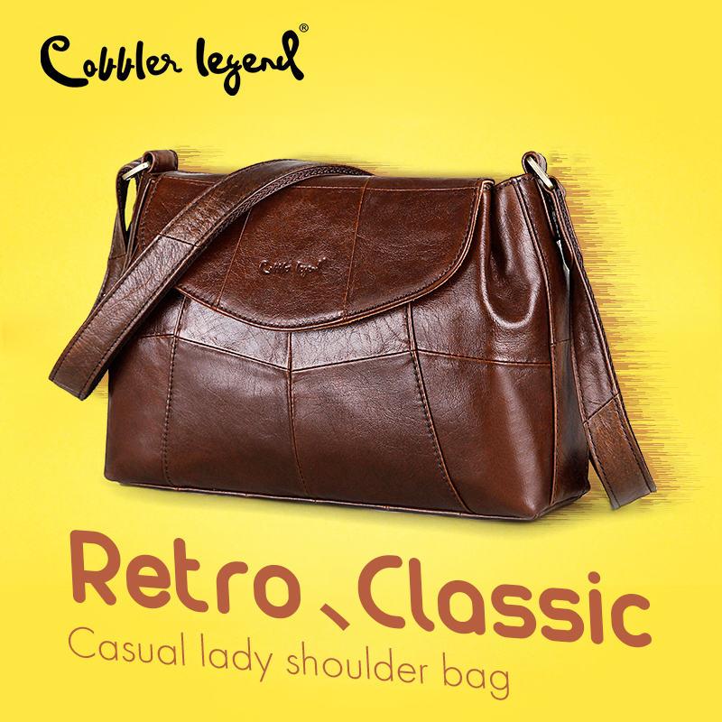 Cobbler Legend Women Messenger Bags for Women 2018 Elegant Crossbody Bags For Women Shoulder Genuine Leather Bags Baobao Brand