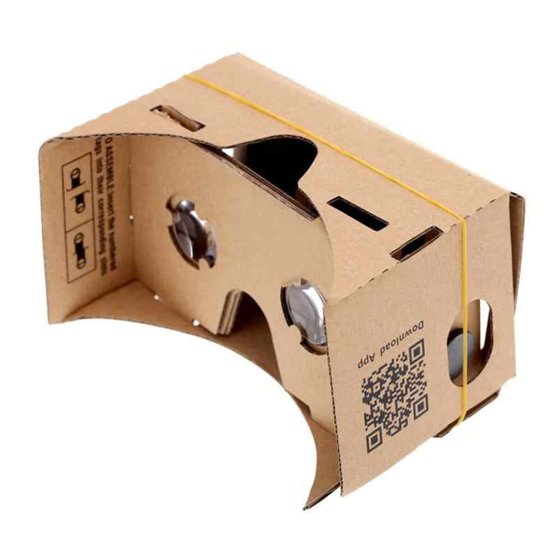 New Diy Vr Goggles Cardboard Virtual Reality Vr Mobile Phone 3d Viewing Glasses For 5 0 Screen Goggle Vr 3d Glasses