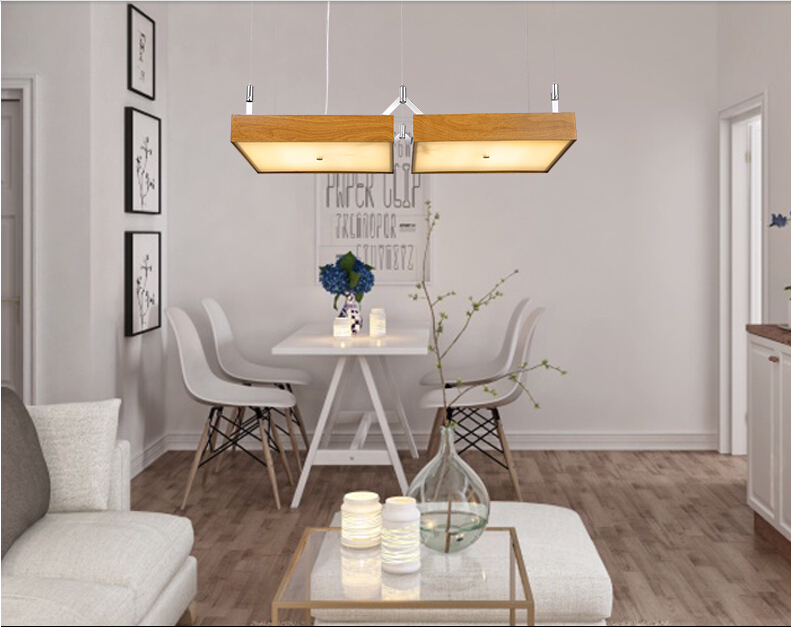 купить Nordic minimalist Japanese fishing line chandelier creative restaurant office meeting room Iron wood chandelier по цене 74797.25 рублей