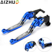With SV650 LOGO Motorcycle Clutch Brake Lever CNC Aluminum Adjustable Extendablbe For Suzuki SV650 SV650S SV