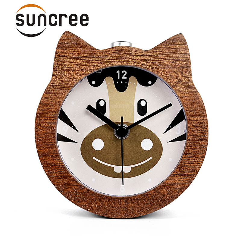 Suncree Chinese Zodiac series Horse popular alarm clock No Ticking Snooze Backlight Digital Clock, Desktop Table Clocks