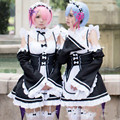 Ram Rem Cosplay Dress Nice Anime Cosplay Costume Re: Zero kara Hajimeru Isekai Seikatsu Ram Rem Maid Dress free shipping