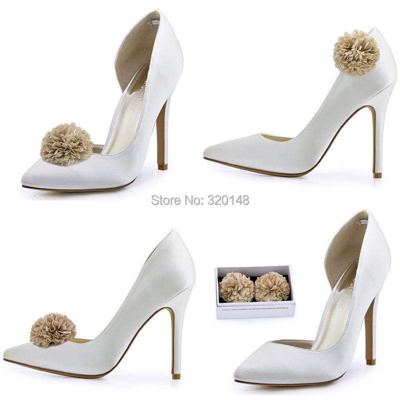 Women High Heel Pumps Rhinestone Platform Satin Bridesmaids Bride Evening  Party Bridal Wedding Shoes EP2015 Silver ChampagneUSD 55.99 pair fbaa6b09a094