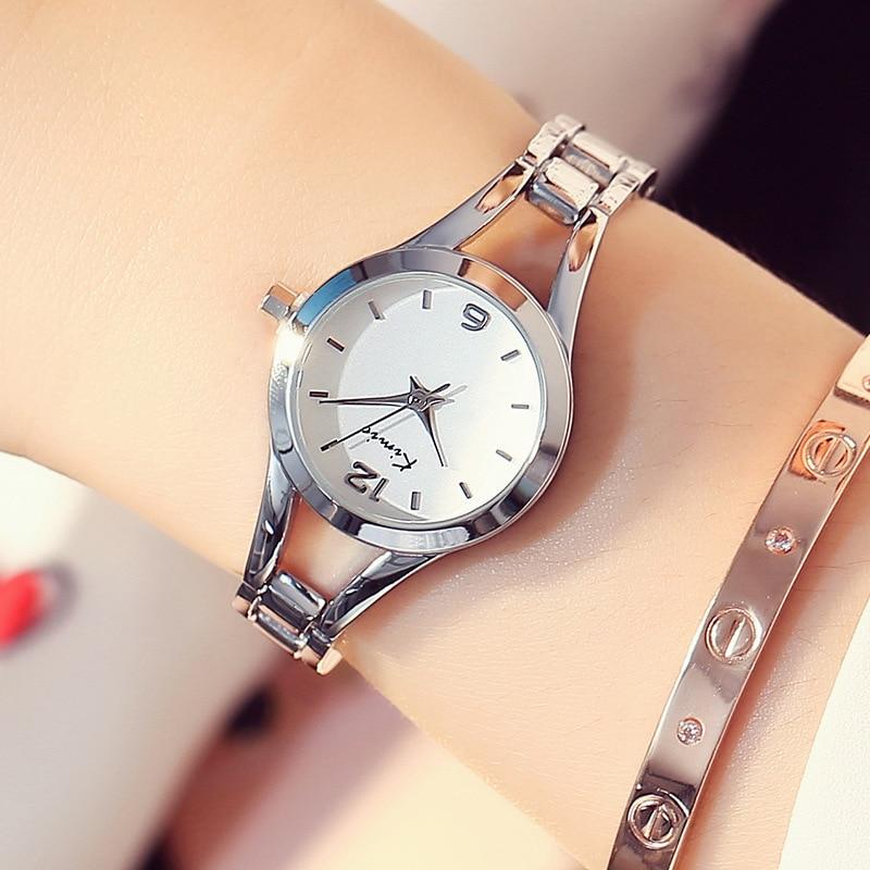 KIMIO Simple Watches Women Rose Gold horloge Damesmode Klok Dames - Dameshorloges