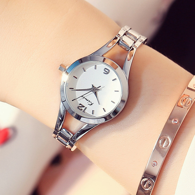KIMIO Simple Watches Women Rose Gold Watch Women Fashion Clock Ladies Elegant Br