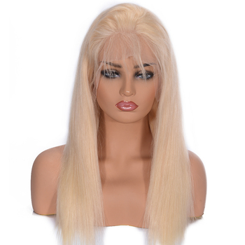 Silky Straight 613 Blonde Lace Front Human Hair Wigs 180% Density Brazilian Lace Front Remy Hair Wig Pre Plucked Favor Hair 8-24 1