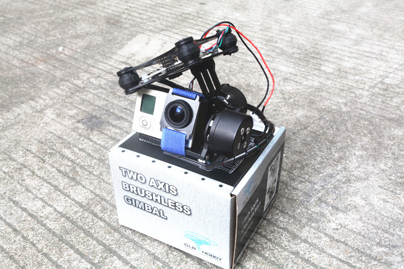 цена на DJI Phantom Gopro 2 3 CNC Metal Brushless Camera Gimbal w/ Motors & Controller