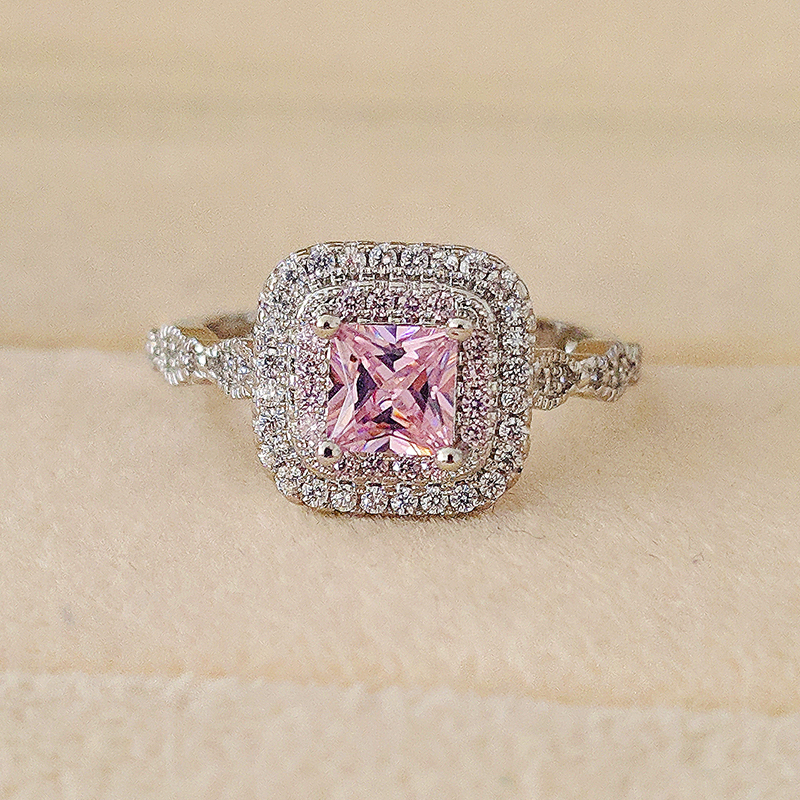 2019 new luxury pink princess 925 Sterling Silver engagement ring for women lady anniversary gift jewelry bulk sell R5067-in Engagement Rings from Jewelry & Accessories on Aliexpress.com | Alibaba Group