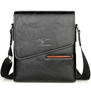 Image 1 - Summer Luxury Brand Kangaroo Messenger Bags Men Leather Casual Crossbody Bag For Men Business Shoulder Bag Male Small Handbag