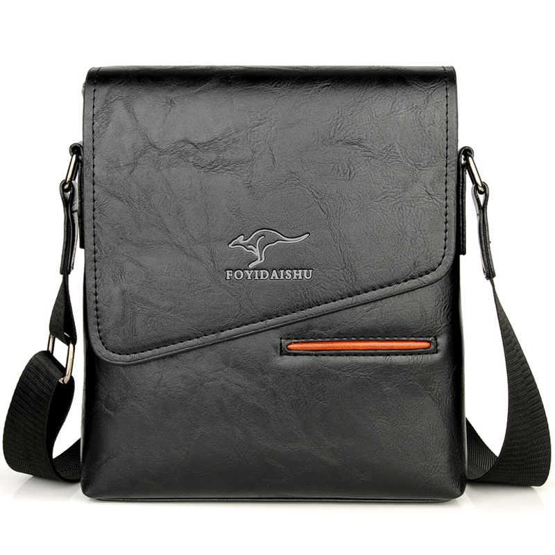 Zomer Luxe Merk Kangoeroe Messenger Bags Mannen Leer Toevallige Crossbody Tas Voor Mannen Zakelijke Schoudertas Mannelijke Kleine Handtas