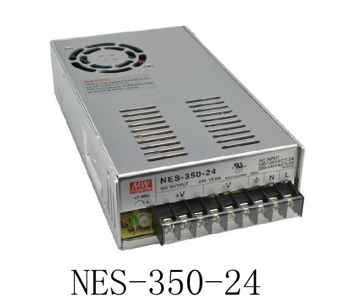 Original MEAN WELL power suply unit ac to dc power supply NES-350-24 350W 24V 14.6A MEANWELL meanwell 24v 75w ul certificated nes series switching power supply 85 264v ac to 24v dc