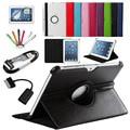 7 в 1 Для Samsung Galaxy Tab 2 10.1 P5100 P5110 P7500 P7510 Смарт Tablet PU Кожаный Чехол 360 Вращающийся + Микро OTG + USB кабель