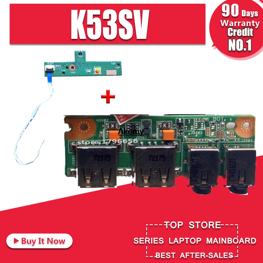USB Audio Jack Board For ASUS A53S X53S K53S P53S K53SV 100/% Test Free shipping