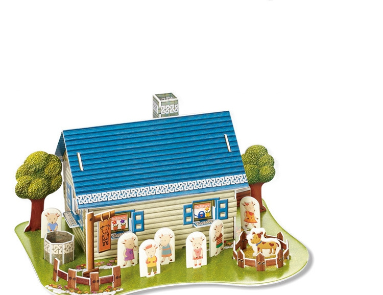 Building & Construction Toys Card Model Building Sets Well-Educated 3d Puzzle Paper Mold Papercraft Mini House Animal Series 3d Paper Model Attractive Fashion
