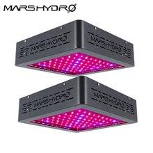 Mars Hydro 2pcs MarsII 400W LED Grow Light Full Spectrum with IR for Medical Plant Veg Flower Hydro Indoor Planting Professional