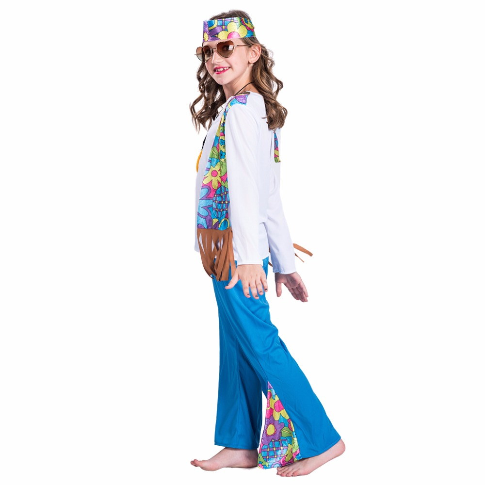 Eraspooky halloween costume for kids girls 2018 new flower power girl hippie costume girl for 4 12 years shirt and pants set on Aliexpress.com | Alibaba ...  sc 1 st  AliExpress.com & Eraspooky halloween costume for kids girls 2018 new flower power ...