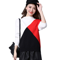 Ladies Loose Sweater And Pullover Multi Color Sweater With Round Neck Women S Wool Knitted High