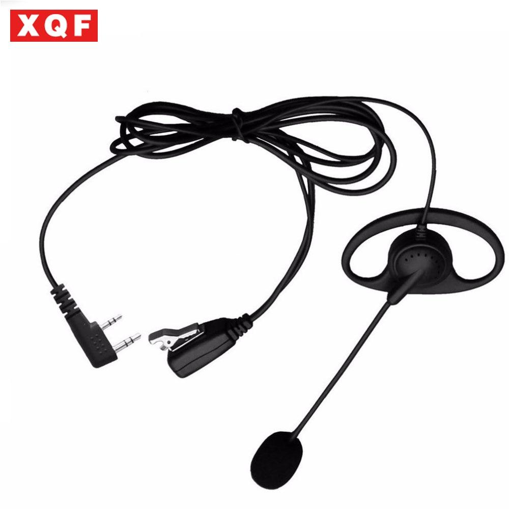 D-Shape PTT Earphone Earpiece Headset for Kenwood Wouxun Baofeng 2 Way Radio