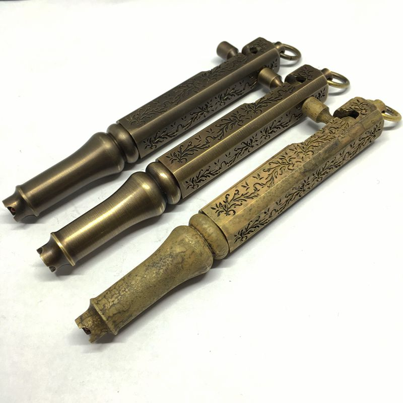 Deluxe Ancient Brass Gel Pen Engraving Flowers Gun Pen Deluxe Ancient Brass Gel Pen Engraving Flowers Gun Pen