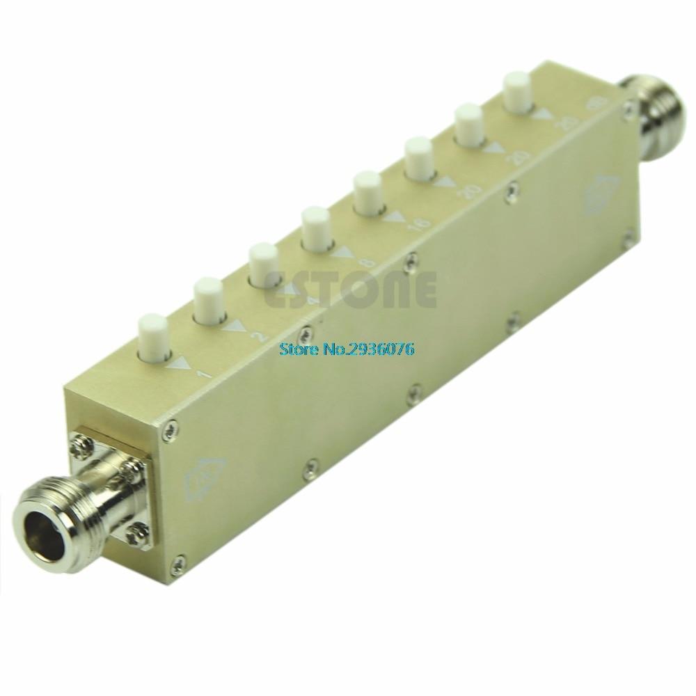 Adjustable Key-Press Variable Attenuator 5W 0-90dBi DC-2.5GHZ 50ohm 8-key резистор kiwame 5w 51 0 kohm