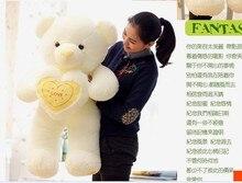 The lovely hug bear doll teddy bear with love heart plush toy doll birthday gift yellow