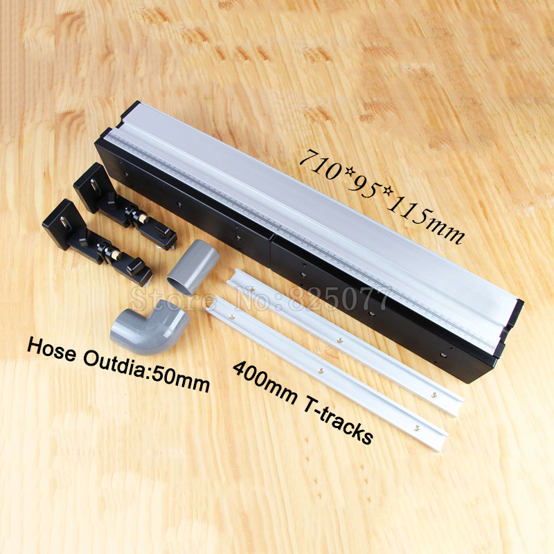DHL Shipping Heavy Duty Router Fence + 3PCS T-tracks + Bracket To Fix Featherboards, Updated With Dust Port Connection JF1166