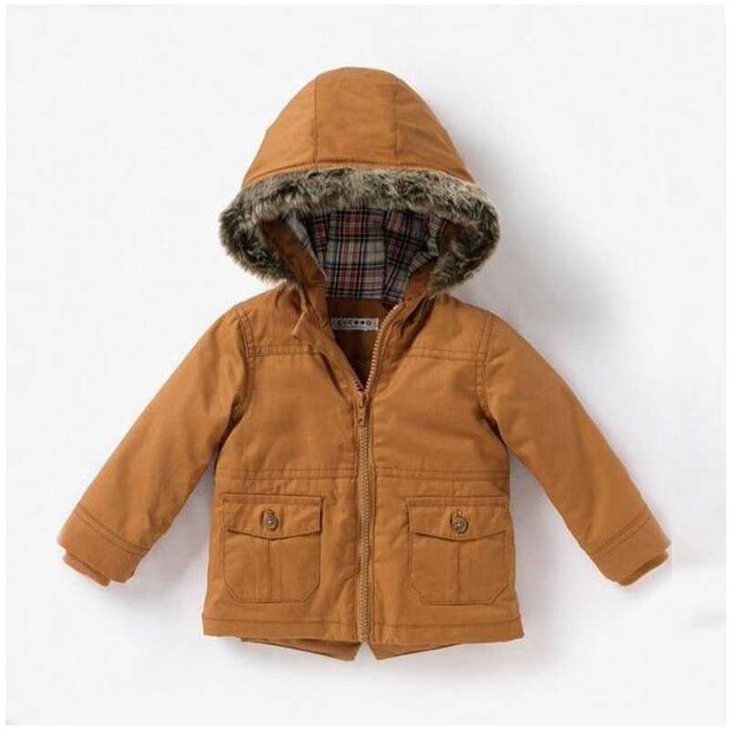 48bc1a747e758 Europe Little Boys Winter Jacket Thick Warm Parka Coat Cotton Hooded Coats  Youth Kids Doudoune Enfant Parka Europe Winter Jacket-in Down   Parkas from  ...