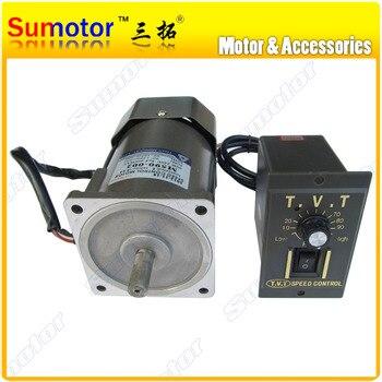 120W AC 110V 220V 50/60HZ wysoki rpm wysoki moment obrotowy silnik elektryczny z regulatorem prędkości CW CCW zmienna dla miodu ekstraktor 1350rpm