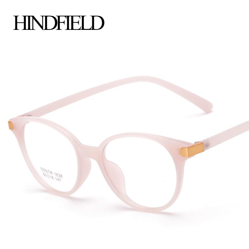 Online-Shop HINDFIELD Vintage TR90 Runde Rosa Brille Rahmen Frauen ...