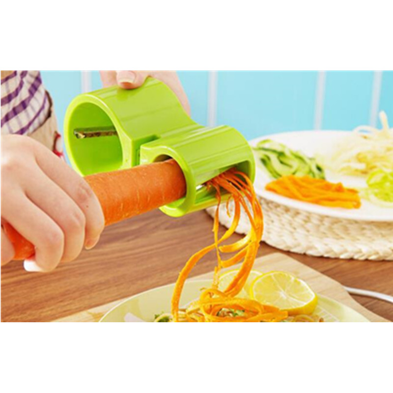 New Kitchen Grater Equipped With Grindstone Spiral Cutter Sharpener Multi function Carrot Cucumber Potato Grater