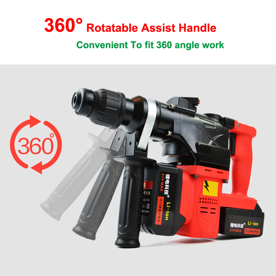 HTB18YIiXYsTMeJjy1zbq6AhlVXaF - 15000 25000mAh Heavy Industrial Wall Hammer Cordless Drill Rechargeable Samsung Lithium Battery Electric Hammer Impact Drill
