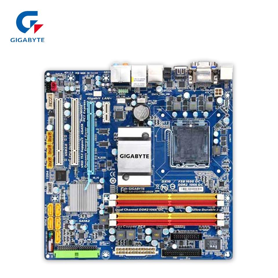 Gigabyte GA-EG45M-UD2H Original Used Desktop Motherboard EG45M-UD2H G45 LGA 775 DDR2 16G SATA2 Micro-ATX