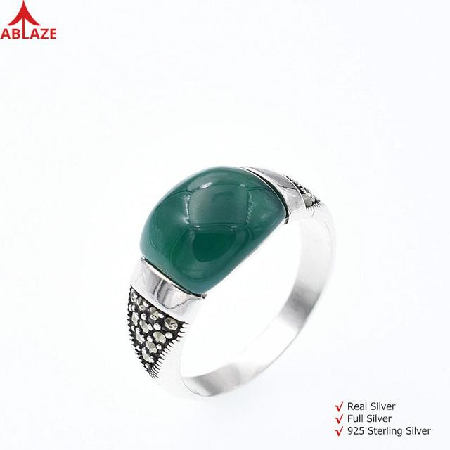 10d377a5c5 Unique Green Agate Rings