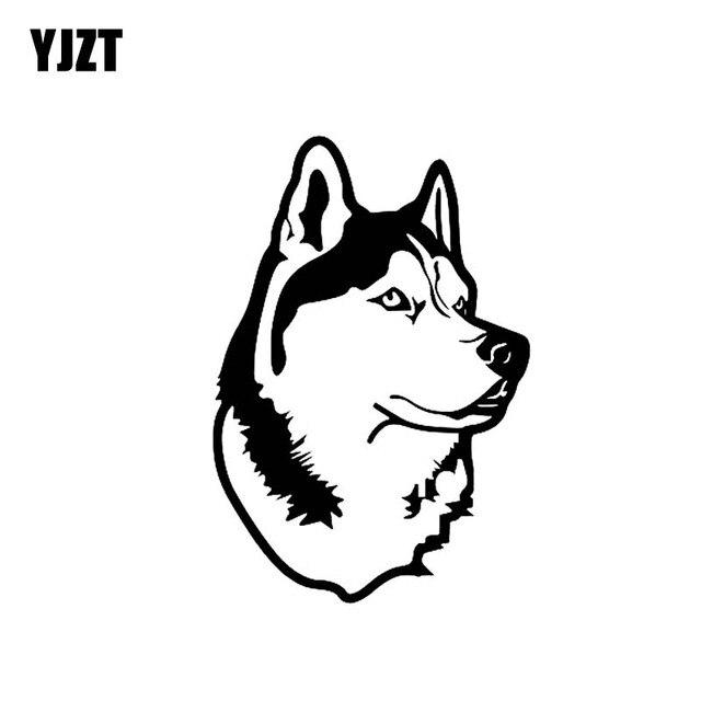 Yjzt 12 3cm 18cm Husky Dog Decor Art Vinyl Sticker Car Decal Black