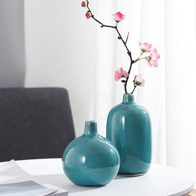 Modern Decorative Vase Crystalline Ceramic Small Flower Vases For Home Office Tabletop Restaurant Living Room Kitchen Hotel Gift 3