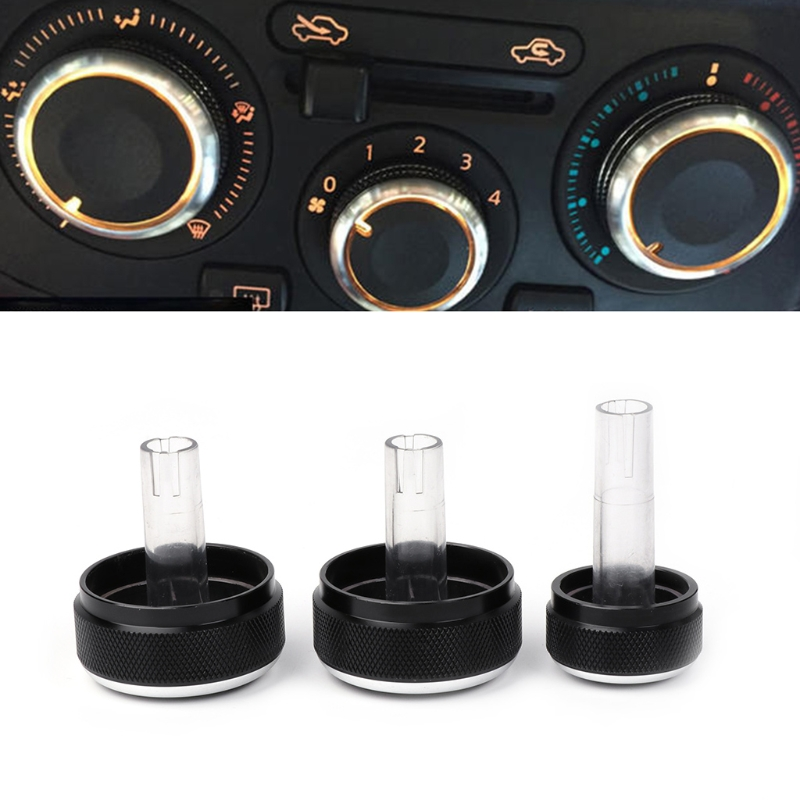 3 Pcs A/C Car Styling Air Condition Panel Control Switch Knob For Volkswagen VW GOLF 4 MK4 Bora Passat B5