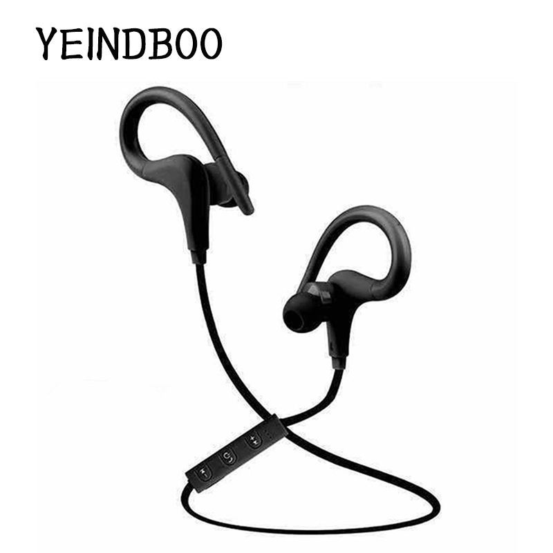 YEINDBOO Wireless Bluetooth Sports Headphones Noise Cancelling Earhook Stereo Headset w/ Mic - Red For PC Mobile Phone Mp3