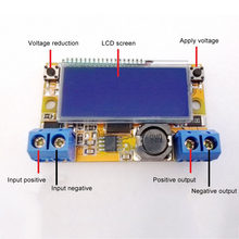 Newly DC-DC Adjustable Step-down Power Supply Module LCD Display 3A DC128(China)