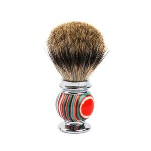 Nueva brocha de afeitar para pelo de tejón, brocha de resina de aleación de Zinc Color caramelo, cepillos para Barba
