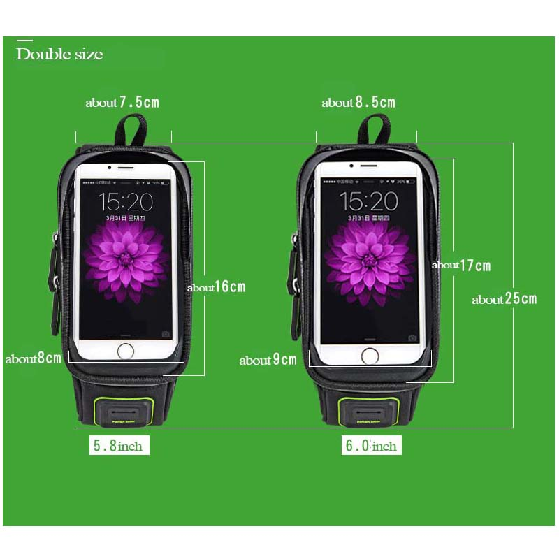 Rockbros Bicycle Bag 5.8 6.0 Inch Phone Case Waterproof Touchscreen - Cycling - Photo 6