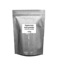 Pure Hyaluronic acid powder with molecular weight from 15kda or above 100g for skin care