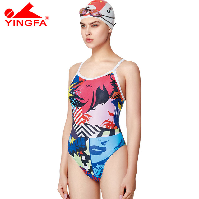 bd913b238ebb5 Yingfa swimwear 2018 women swimsuits racing competition competitive swim  suit girl trainning professional swimsuit for women
