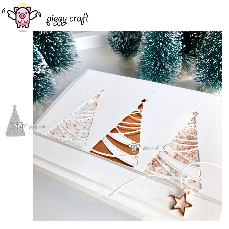 Christmas Tree Wooden Metal Mould Cutting Dies For DIY Craft Scrapbooking
