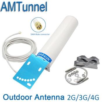 3G 4G LTE antena SMA 4G WIFI antena CRC9/TS9 de antena de 2,4g router con 5 M para repetidor de señal de router 4G módem