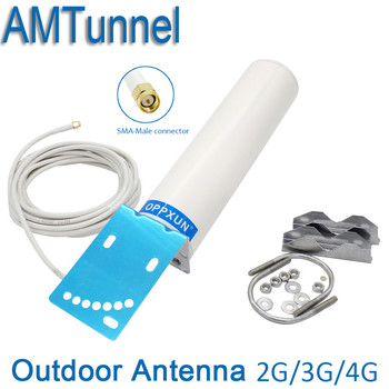 3g 4g 4g LTE antena SMA antena WI-FI CRC9/TS9 impulsionador da antena 2.4g antena do roteador com 5 m para repetidor de sinal router 4g modem